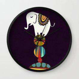Elephant Circus Wall Clock