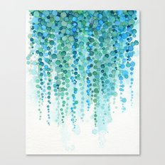 String of Pearls Watercolor Canvas Print