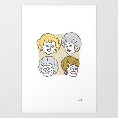 Thank You for Being a Friend (Golden Girls) Art Print