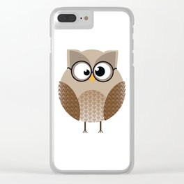 OWL KNOWS EVERYTHING Clear iPhone Case