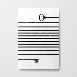 (Very) Long Key Metal Print