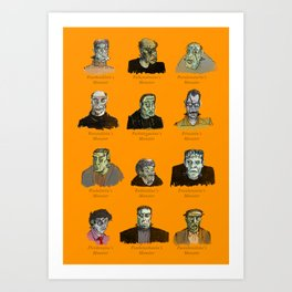 Field Guide to Man-Made Monsters (orange) Art Print