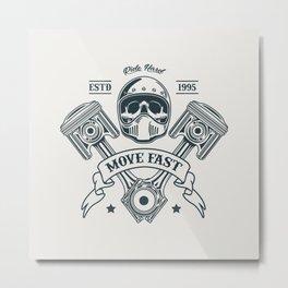 Motorcycle Club Illustration Metal Print