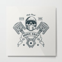 Motorcycle Club Illustration Metal Print