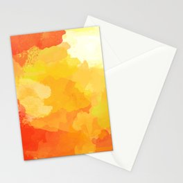 Colorful Abstract - red orange pattern Stationery Cards
