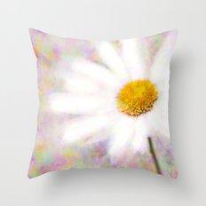 Daisy on Butterflies Throw Pillow