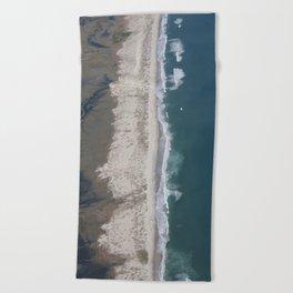 Aerial Beach Photograph: Masonboro Island | Wrightsville Beach NC Beach Towel