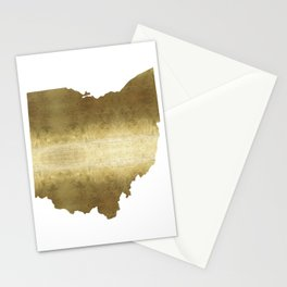 ohio gold foil state map Stationery Cards
