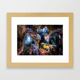 Enchanted Caves Framed Art Print