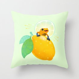 Golden poison lemon sherbet 1 Throw Pillow