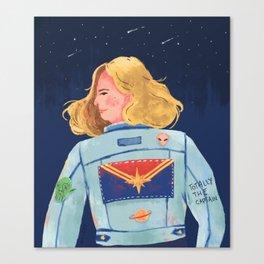 Captain Heroine Canvas Print