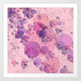 Boiling water in magenta and pink: abstract digital art fashionable modern colors Art Print