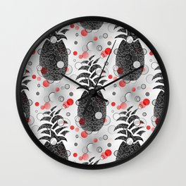 Pineapple Arrangement Wall Clock