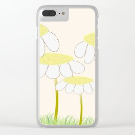 Whimsical Yellow Daisies Clear iPhone Case