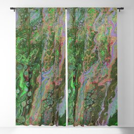 Green Inverted Pour 6 Blackout Curtain
