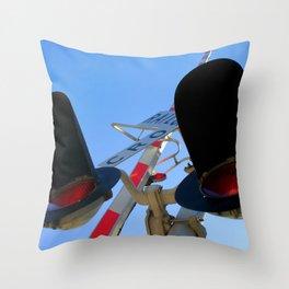 Rail Cro Throw Pillow