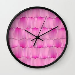 Gentle Pink Purple Flower Petal Pattern Wall Clock