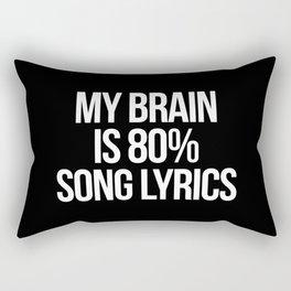 Song Lyrics Funny Quote Rectangular Pillow