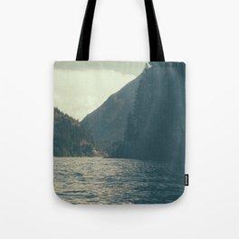 The darkness of Diablo Lake Tote Bag