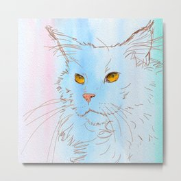 Magnificent Maine Coon Metal Print