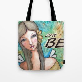 Just Be Peaceful Angel Tote Bag