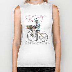 Spring time bicycle romance Biker Tank