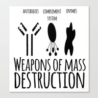 weapons of mass creation Canvas Prints featuring Weapons of mass destruction by Medicowesome
