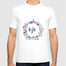 Life. Mens Fitted Tee MEDIUM White