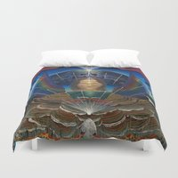 techno Duvet Covers featuring Techno-Ma by MANASPHERE studio