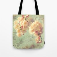 postcard Tote Bags featuring Postcard by AlejandraClick
