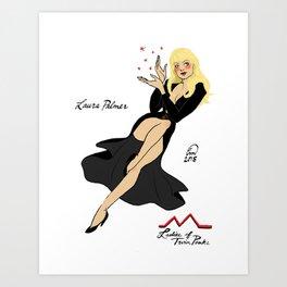 Laura Palmer Pin-up Art Print