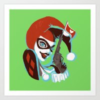 harley quinn Art Prints featuring Harley Quinn by Piano Bandit