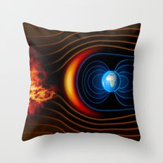 Magnetic Protection ||I Throw Pillow