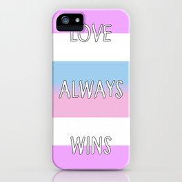 Love Always Wins (Intersex Flag) iPhone Case