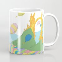 dr seuss Mugs featuring oh the places you'll go .. dr seuss by studiomarshallarts