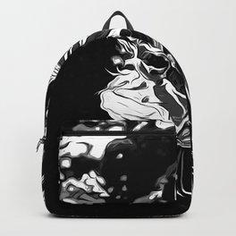 lionfish vector art black white Backpack