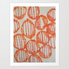 O-range Lanterns Art Print