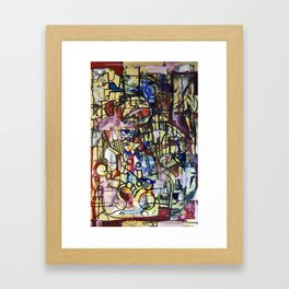 Experimentation with Pollock Framed Art Print