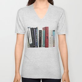 Book shelf love- we are what we read Unisex V-Neck