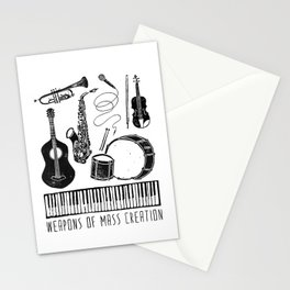 Weapons Of Mass Creation - Music Stationery Cards