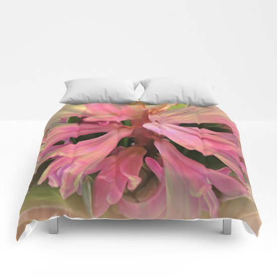 In The Pink Hyancinth Abstract  Comforters