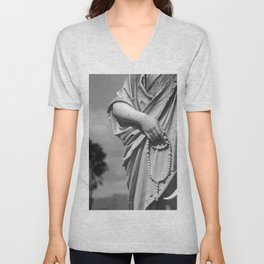 Hands That Pray Unisex V-Neck