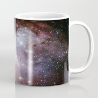 nasa Mugs featuring Nebula star Eagle constellation galaxy hipster NASA space stars hipster geek sci fi landscape photo by iGallery