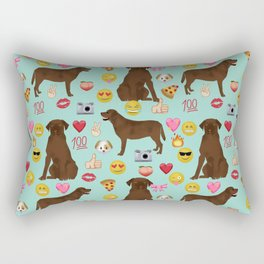 Chocolate lab emoji labrador retrievers dog breed Rectangular Pillow