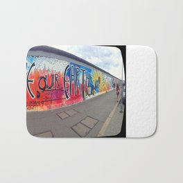 Save Our Earth Berlin Wall Bath Mat