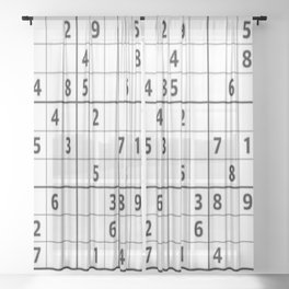 Sudoku Series: Hard Level - Mono Sheer Curtain