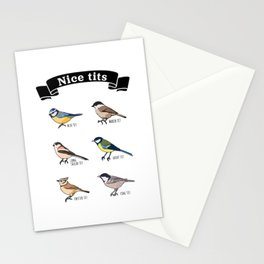 Funny Nice tits Birdwatching Bird Gift Stationery Cards
