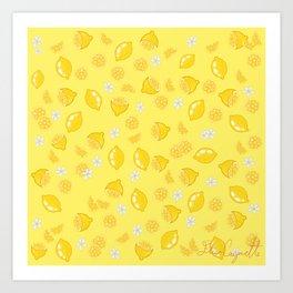 Lemons citrons Art Print