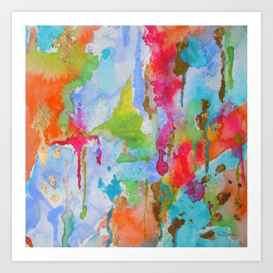 Beacoup De Colours Art Print