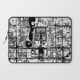 Beijing city map black and white Laptop Sleeve